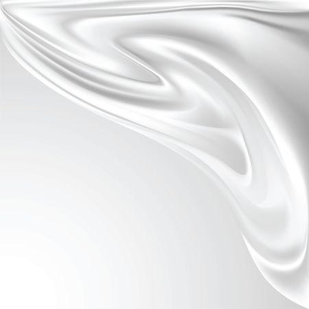 v�tements pli�s: R�sum� fond blanc de soie Illustration