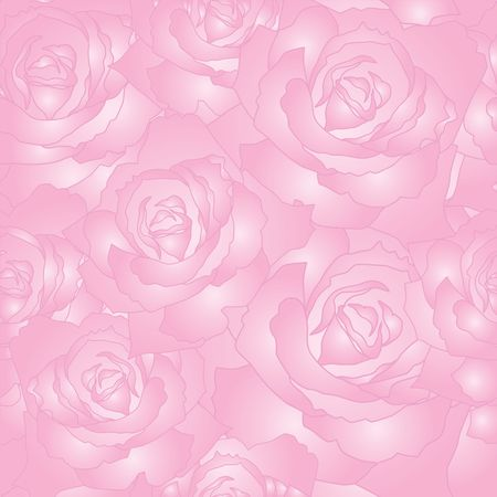 romantic background: Seamless vector pattern of the stylised roses