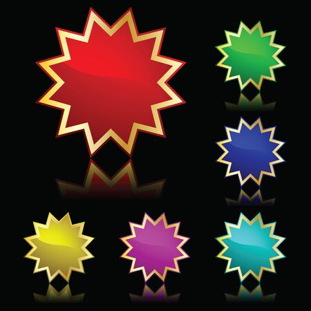 vector popular color buttons star for internet Vector