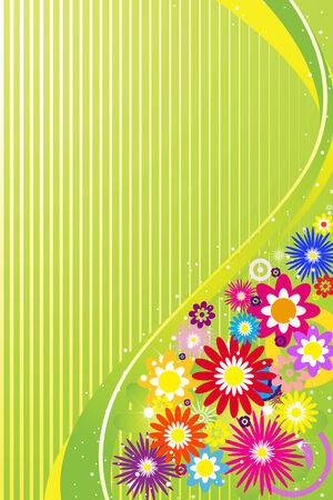hippy:  Abstract floral background, element for design. Illustration