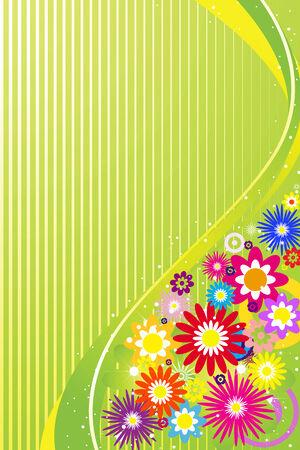 margin:  Abstract floral background, element for design. Illustration