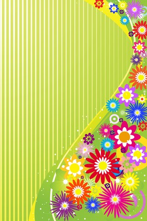 Abstract flowers background with place for your text Vector