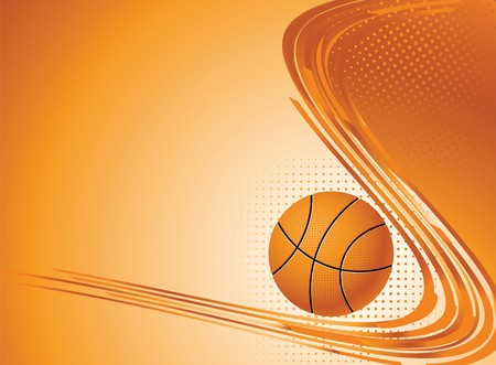 basketball background: Abstract sport background. illustration with Ball for design.
