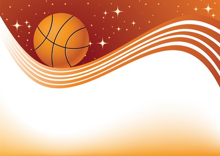 basketball design element, a abstract  orange background
