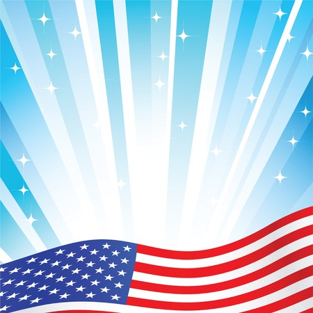 american flag background: american flag background with set of stars
