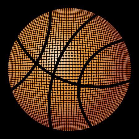 basketball ball in fire: Fiery basketball ball  Illustration