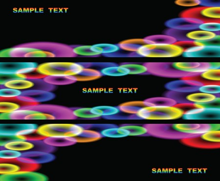 sammer: Abstract colour background with iridescent circles