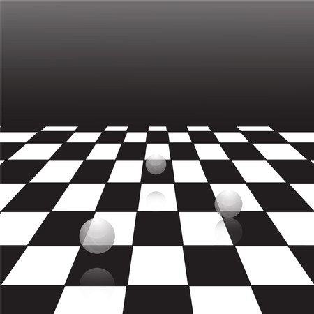 A large black and white checker floor background pattern 向量圖像