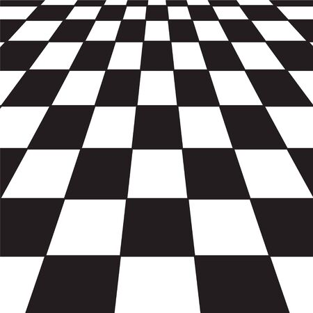этаж: A large black and white checker floor background pattern Иллюстрация