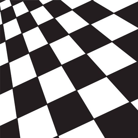 A large black and white checker floor background pattern Banco de Imagens - 7166650
