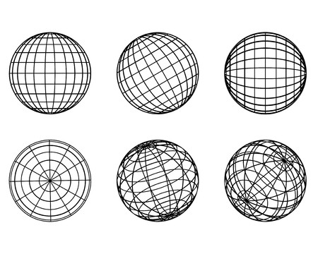 Illustration: original globe elements-spheres