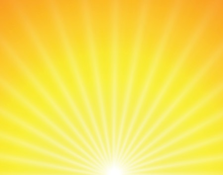 sun on yellow background with orange rays Stock Vector - 7234808