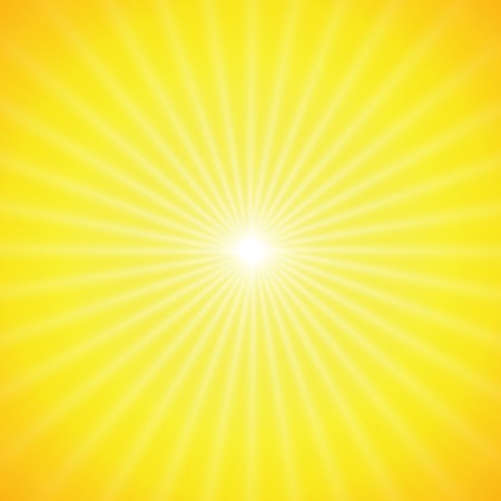 sun on yellow background with orange rays Stock Vector - 7234859