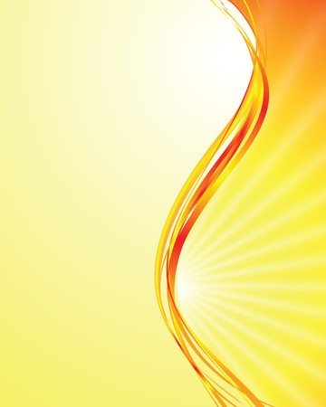 psychedelic background: sun on yellow background with orange rays Illustration