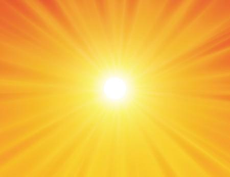 pelota caricatura: sol sobre fondo amarillo con rayas de color naranjas