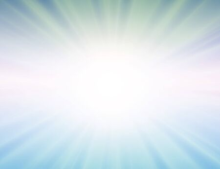 sun on blue background with  rays Stock Vector - 7234858