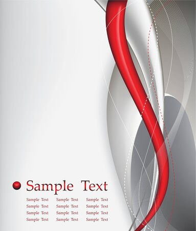 report cover design: red tech abstract background composition -  illustration