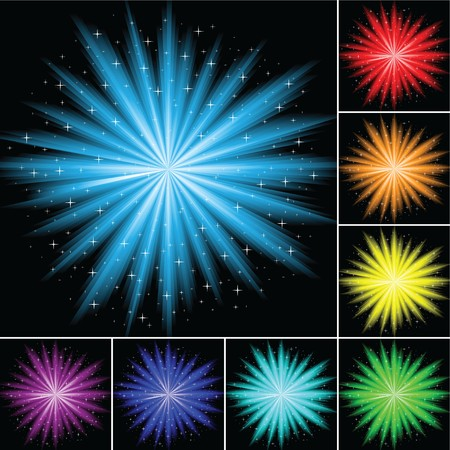 The  illustration contains the image of abstract firework 向量圖像