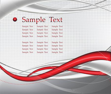 red tech abstract background composition -  illustration Stock Vector - 7304795