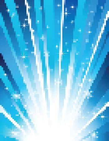flagstone: random blue mosaic tile wallpaper background Illustration