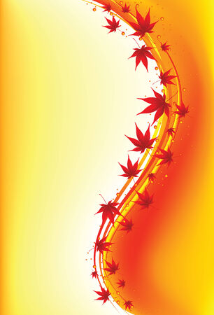 Autumnal leaf background, vector illustration, EPS file  Vector
