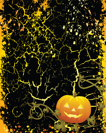 frighten: A Glowing Background for Halloween - perfect for a card or invitation!