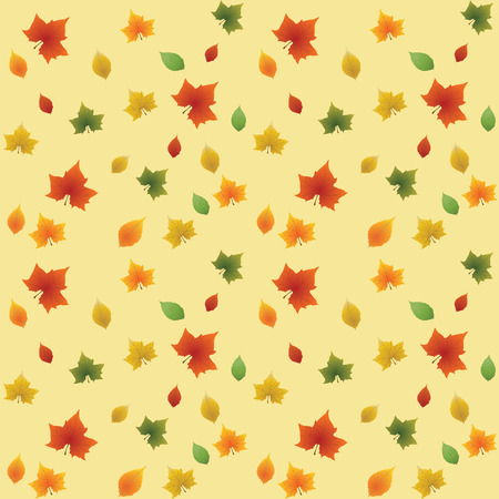 leafage: Seamless autumn background from a leaves