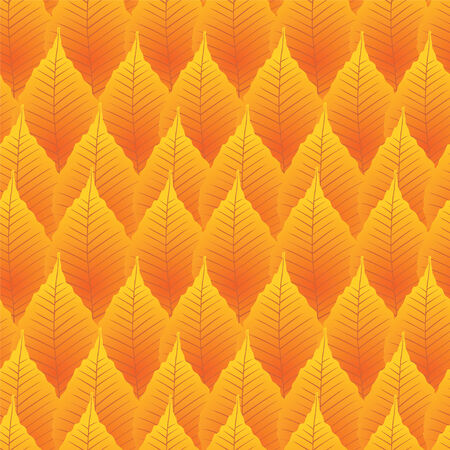 Seamless autumn background from a leaves Vector