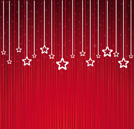 Abstract Christmas stars background vector Vector