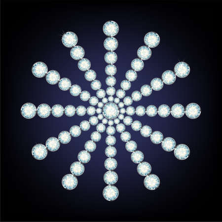 fiambres: Copo de nieve de diamantes. la ilustraci�n Vectores