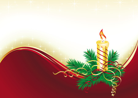 christmas background with bells and tree Stock Vector - 8189190