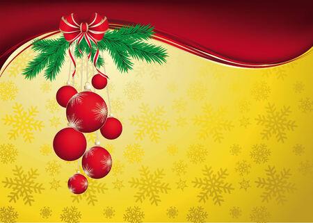 christmas plant: Vector Christmas & New-Years greeting card