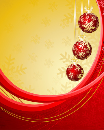 elegant christmas background with baubles. Stock Vector - 8259476