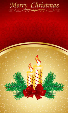 Vector Christmas & New-Years greeting card Vector