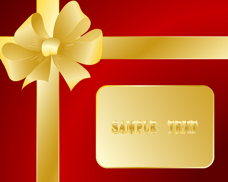 prepaid: Gift card with a bow and a tape