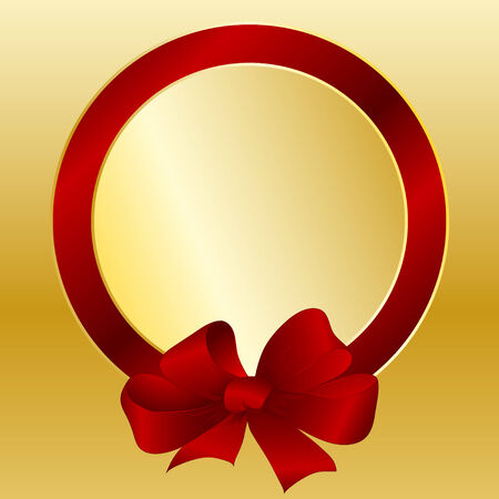 Gift card with a bow and a tape Vector