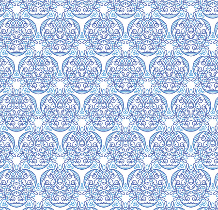 Seamless pattern. A blue ornament on a white background Vector
