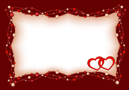 dekor: Background by the Valentines day with red hearts