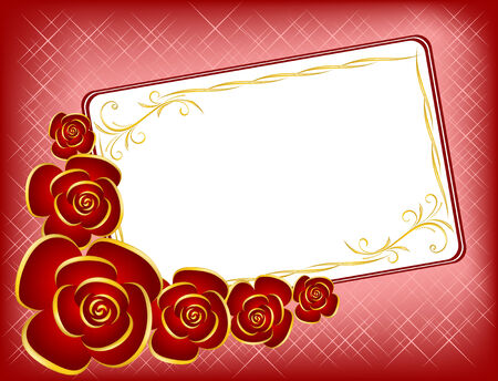 Background by the Valentine's day with red roses Stock Vector - 8696180