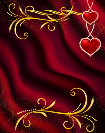 jewelle: Background by the Valentines day with red hearts