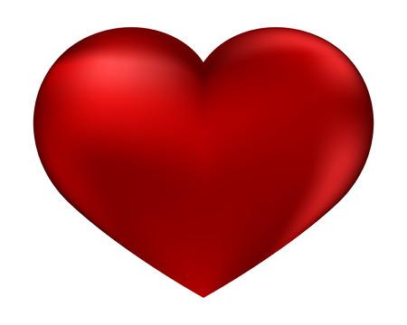 El aislado corazón rojo sobre un fondo blanco por el día de San Valentín sagrado Ilustración de vector
