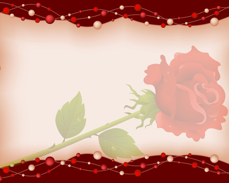 amorousness: Background by the Valentines day with red roses Illustration