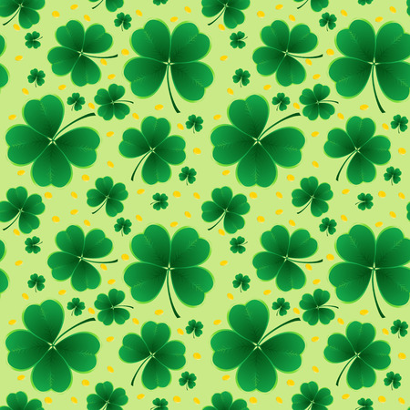 clover background for the St. Patricks Day. Seamless vector.