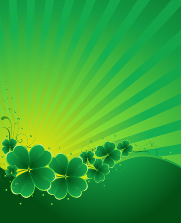 lucky day: clover background for the St. Patricks Day