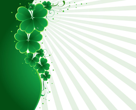 lucky plant: clover background for the St. Patricks Day