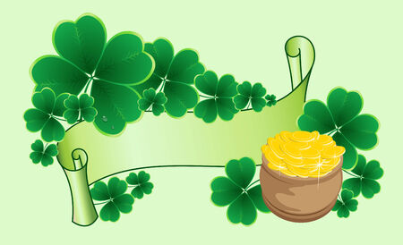 chinks: clover background for the St. Patricks Day  Illustration