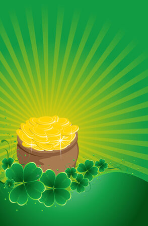 chinks: clover background for the St. Patricks Day