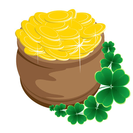 clover background for the St. Patrick's Day Stock Vector - 8775915