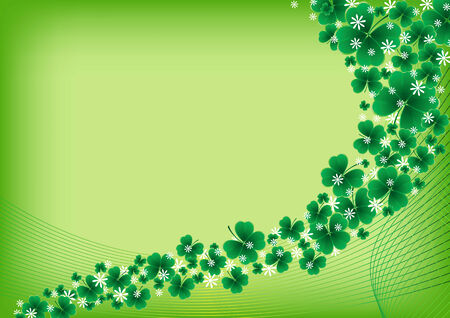 patrick backdrop: clover background for the St. Patricks Day