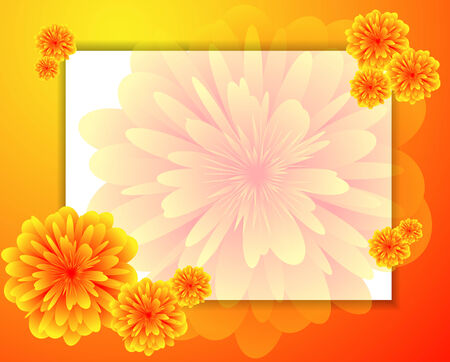 Set of horizontal banners with a flowers  Vector